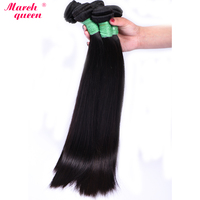 Indian Straight Hair Bundles 10 28 inchs Natural Black Color Remy Hair Extensions 100% Real Human Hair Weave marchqueen