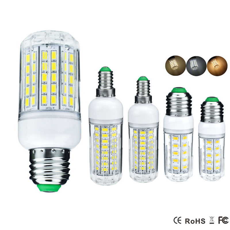 LED Lamp E27 E14 LED Bulb 220V Corn Bulb 24 27 30 36 72 96LEDs Chandelier Candle LED Light For Home Decoration Luminaria SMD5730