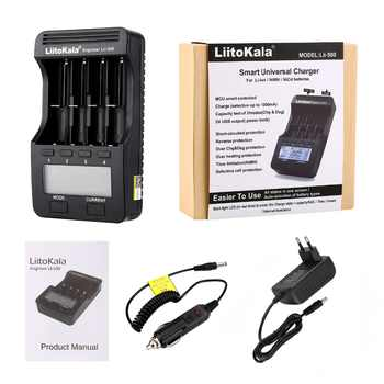 Liitokala lii-500 lii-500S LCD 3.7V 1.2V 18650 26650 21700 Battery Charger with screen ,Test the battery capacity Touch control - DISCOUNT ITEM  34% OFF All Category