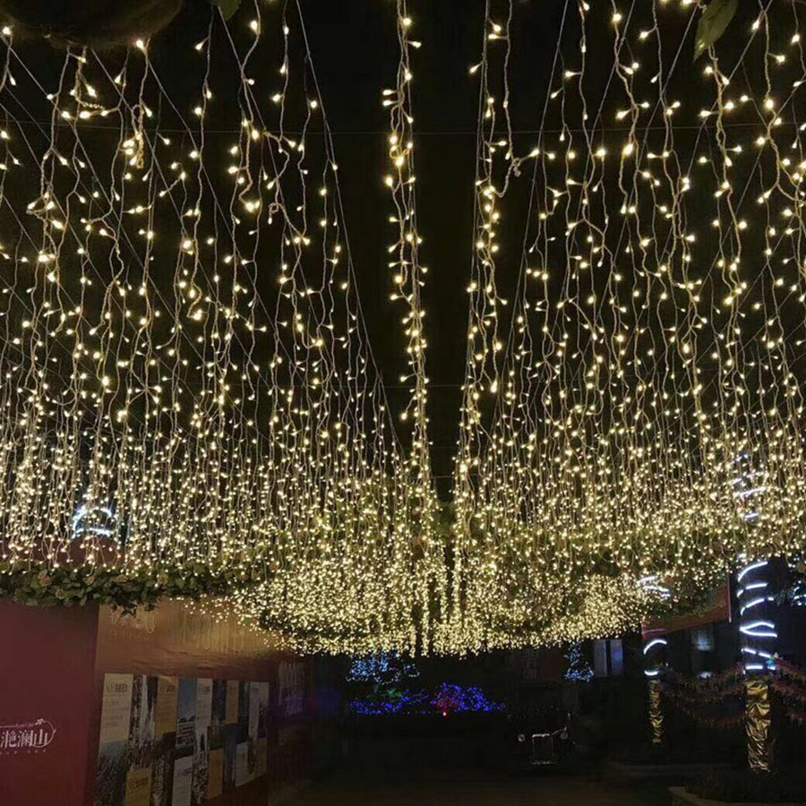 Garden Lights Kopen Us 8 8 19 Off Lmid 4 6m Icicle String Lights Christmas Fairy Lights Garland Outdoor Home For Wedding Party Curtain Garden Decoration In Holiday
