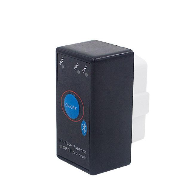 2019 Mini OBD2 ELM327 V2.1 uper Bluetooth With CD Car OBD 2 Fault Scanner Auto Code Readers Scan Tools Switch ELM 327 eml
