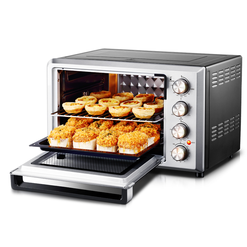 Enamel Interior Electric Oven Home Baking 38L Large-capacity Multi-functional Intelligent Temperature Control Easily Cleaning free shipping large electric oven home baking 38 liters capacity