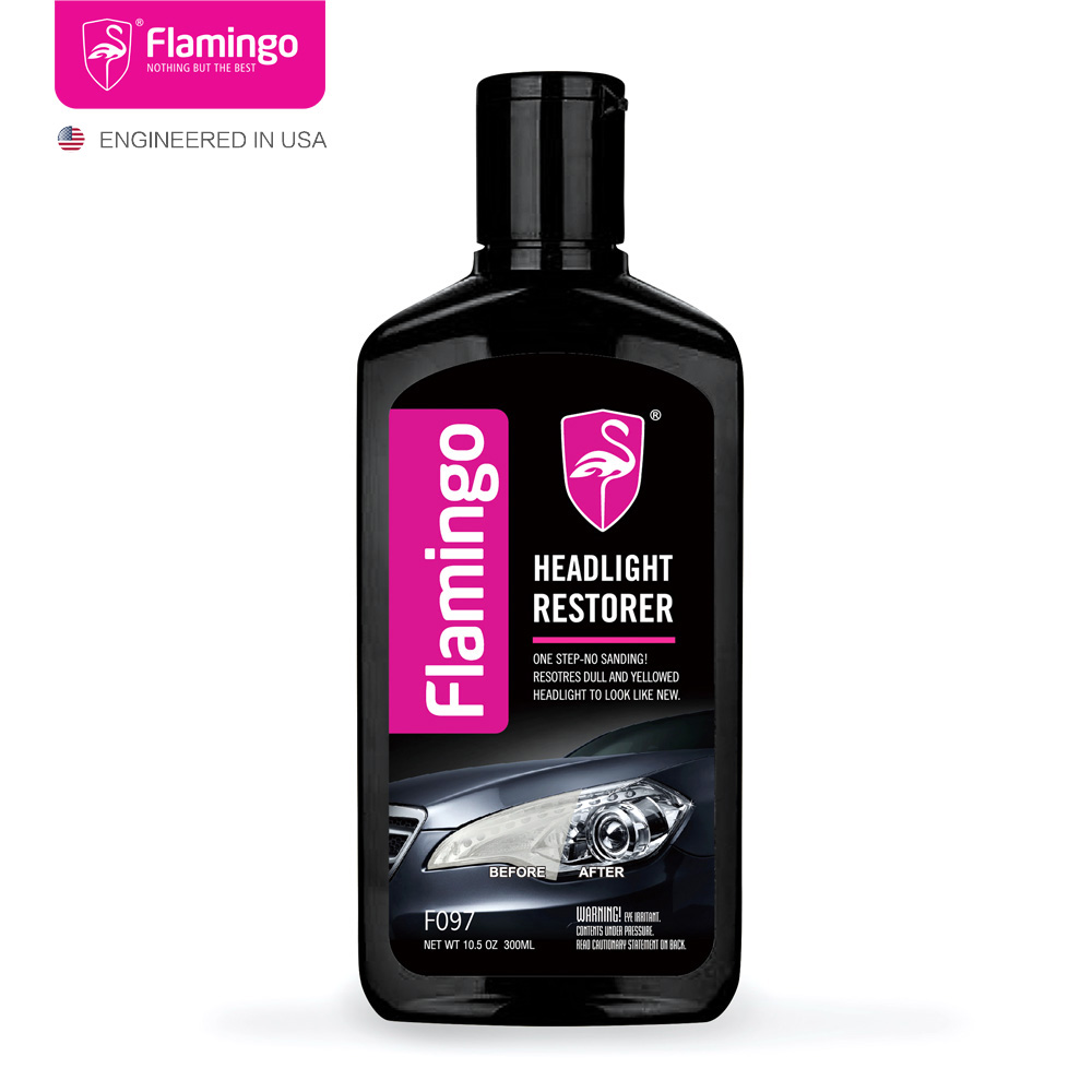 300ml <font><b>Car</b></font> Headlight Restorer Headlamp Polish <font><b>Light</b></font> <font><b>Cleaner</b></font> Lamp Lense Brightener Headlight Restoration Kit For Auto 10.5OZ image