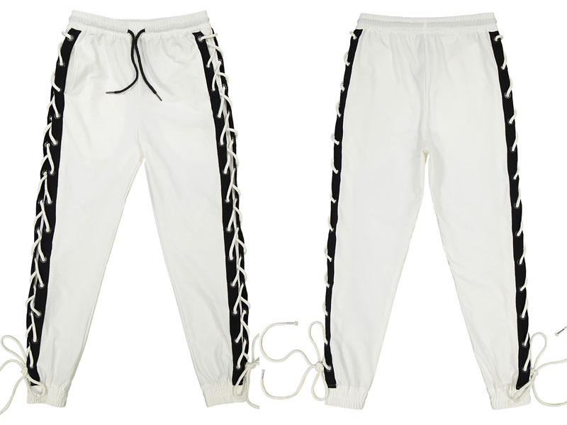 Side Cross Lace Up Joggers Pants 5