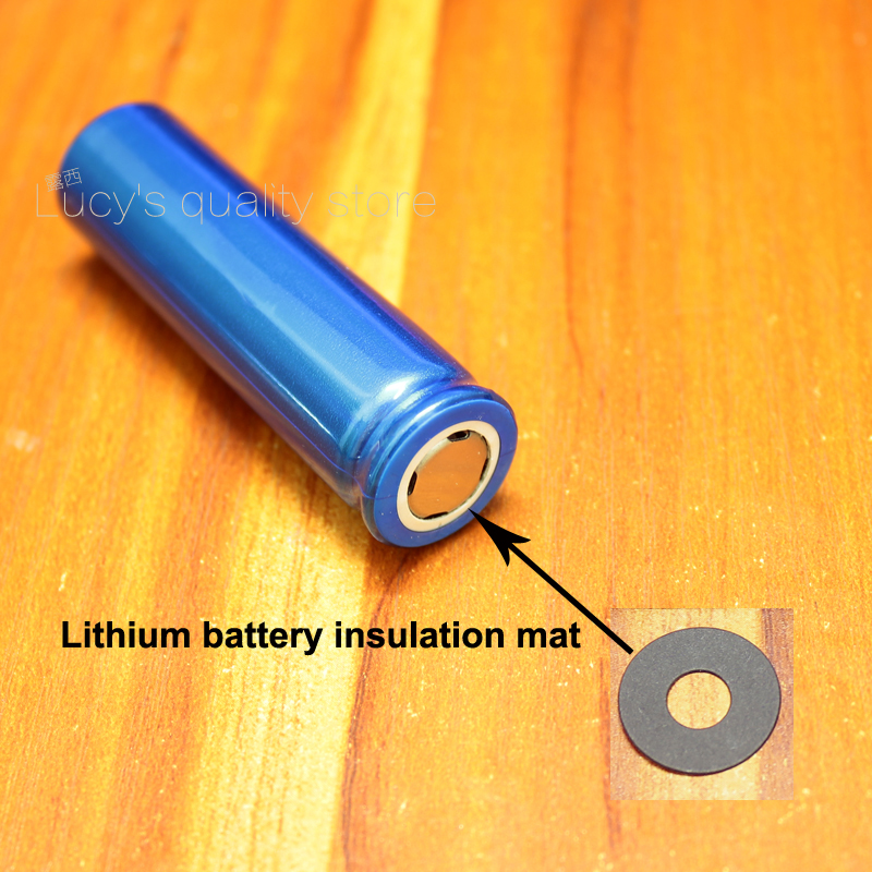 Купить с кэшбэком 100pcs/lot 18650 lithium battery insulation gasket meson 18650 flat head pad insulation pad black fast paper