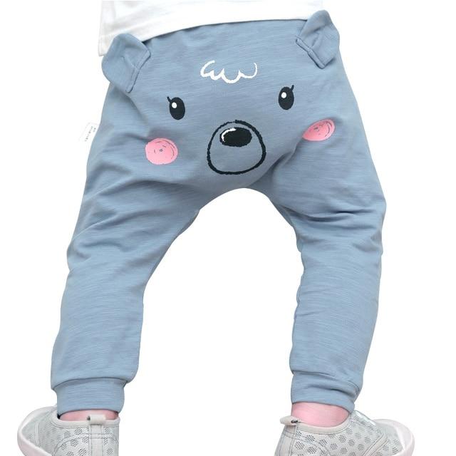 4bf410b3c1 Oso de dibujos animados Niños Pantalones algodón bebé grande PP Pantalones  animal primavera otoño infantil Pantalones