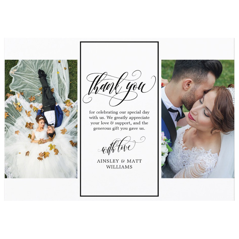 Personalized Swirly Script Two Wedding