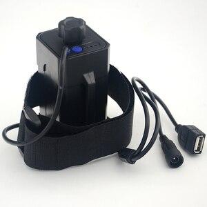 Чехол для хранения аккумуляторов, водонепроницаемый чехол для велосипеда 4x18650, держатель для светодиодных ламп (аккумулятор в комплект не входит)