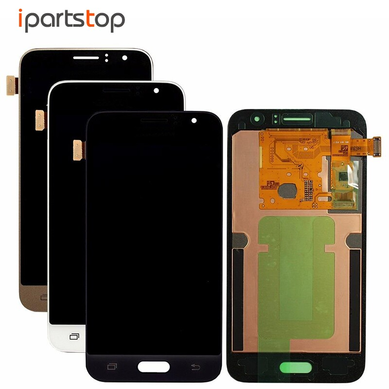 OEM Black White Gold Display For Samsung Galaxy J1 J120 2016 J120F LCD Screen Touch Digitizer Assembly With Front Adhesive brand new for samsung j1 lcd display with touch screen digitizer for samsung galaxy j1 j120f j120m j120h sm j120f lcd 3 color