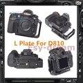 Pro Vertical tipo L suporte tripé Quick Release placa Base perfeita para Nikon D810 D810A PT148