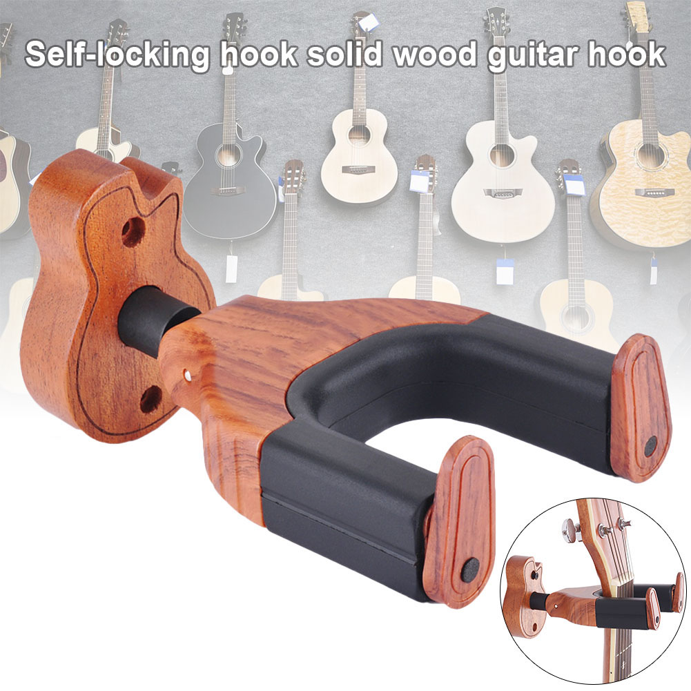 Newly Wooden Wall Mount Guitar Hanger Holder Hook Keeper Hanging Bracket YA88