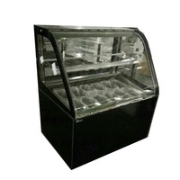 10 pan commercial Top quality ice cream display showcase/ display CFR price shipping by sea for sale