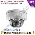 4MP wdr security camera videovigilancia Mini vandalproof Dome CCTV kamera de seguridad DS-2CD2142FWD-I ip camera poe outdoor