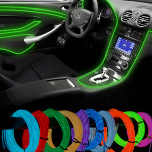 10 Color selected 5M with Car 12v controller decorative Led thread sticker accessory Flexible Neon Light EL Wire Rope Tube(China)