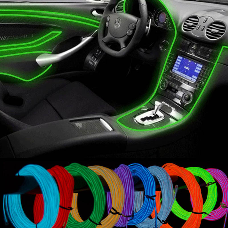 10 Color selected 5M with Car 12v controller decorative Led thread sticker accessory Flexible Neon Light Innrech Market.com