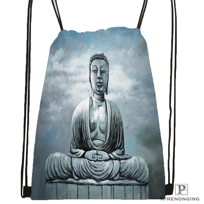Custom Buddha-quote-1  Drawstring Backpack Bag Cute Daypack Kids Satchel (Black Back) 31x40cm#20180611-02-76