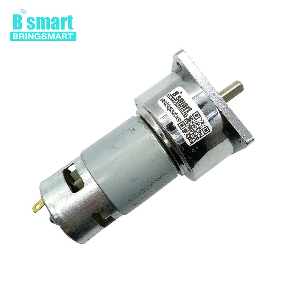 60GA775 moteur à engrenages cc 12 V et 24 V Micro moteur à courant continu avec roulement à billes précis adapté aux outils électriques Bringsmart