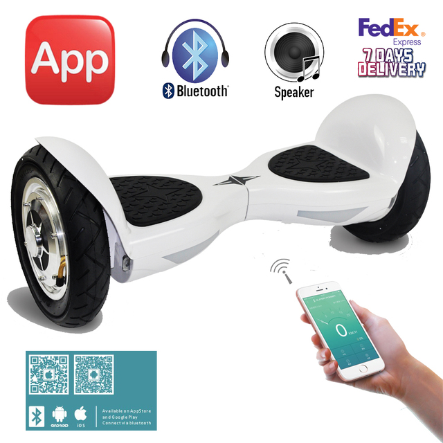 "Balance Board Sports Direct: App Control 10"" Inch Electric Scooter Bluetooth Hoverboard"