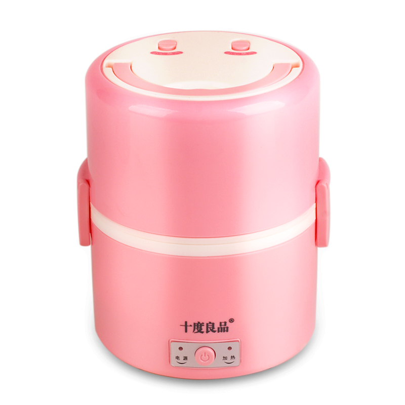Electric Lunchbox Heating Plug In Insulation Hot Meal Steamed Rice Vacuum Preservation Double Gall 1.3L 1-2 People цена и фото