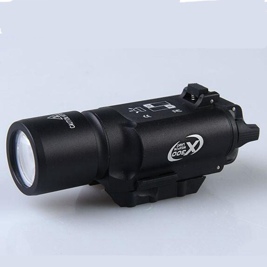 Tactical X300 LED Flashlight White Weapon Light Torch For Rifle Scope Hunting Shooting in Hunting Gun Accessories from Sports Entertainment