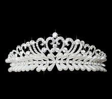 Fascinating Bridal Crystal Tiara Wedding Hair Accessories Jewelry Tiara And Crowns Headband Heart Flower MYQC011