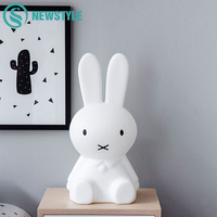 50cm Rabbit Night Light Children Baby Bedroom LED Night Lamp Lovely Bedside Decoration Lights For Kids