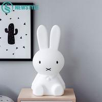 50cm Rabbit Night Light Children Baby Bedroom LED Night Lamp Lovely Bedside Decoration Lights For Kids