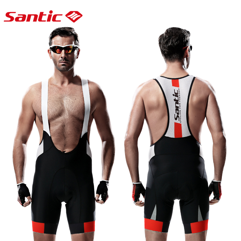 Santic Men Cycling Bib Shorts MTB Padded  Breathable Mesh Mountain Road Bicycle Bike Short Cycling Bib Short  mtb Ciclismo