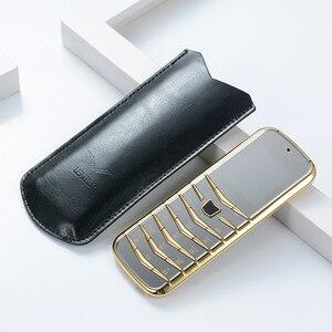 Image 1 - נעילה V03 בר יוקרה Bluetooth חיוג מתכת גוף עור בכיר Dual sim טלפון נייד סופר אות GSM בר רוסית דק ישן טלפון