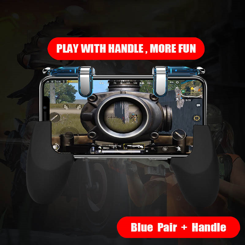 Image 5 - Smart phone gamepad free fire pubg mobile game controller handle for L1 R1 PUBG mobile controller iphone gaming shooter button-in Gamepads from Consumer Electronics