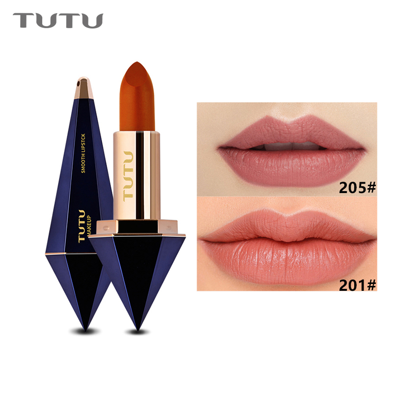 TUTU Velvet Lipsticks Long Lasting Sexy Shimmer Waterproof Nude Lip Stick Moisturizing Stars Matte Lipstick 6 Color Make-up Kit