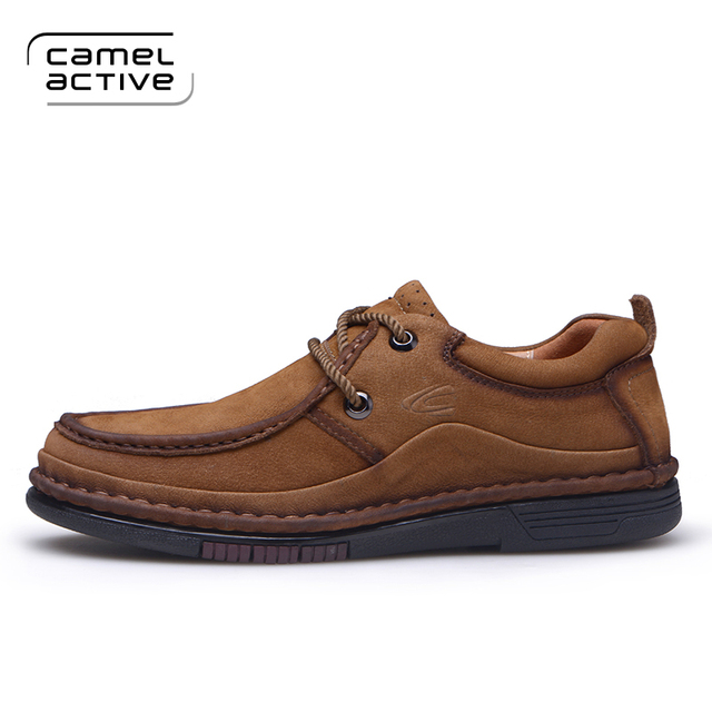 Camel Active Brand Casual Shoes Men Loafers Mocassin Male Adult 2017  Genuine Leather Boat Walking Spring