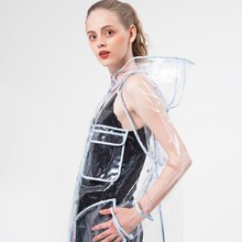 Transparent Raincoat Women,Rain coat Poncho  Capa De Chuva Travel chubasqueros impermeables mujer Fashion Show