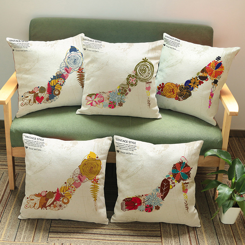 Decorative pillowcases high heels flower design pillowcases home decorations foundation design
