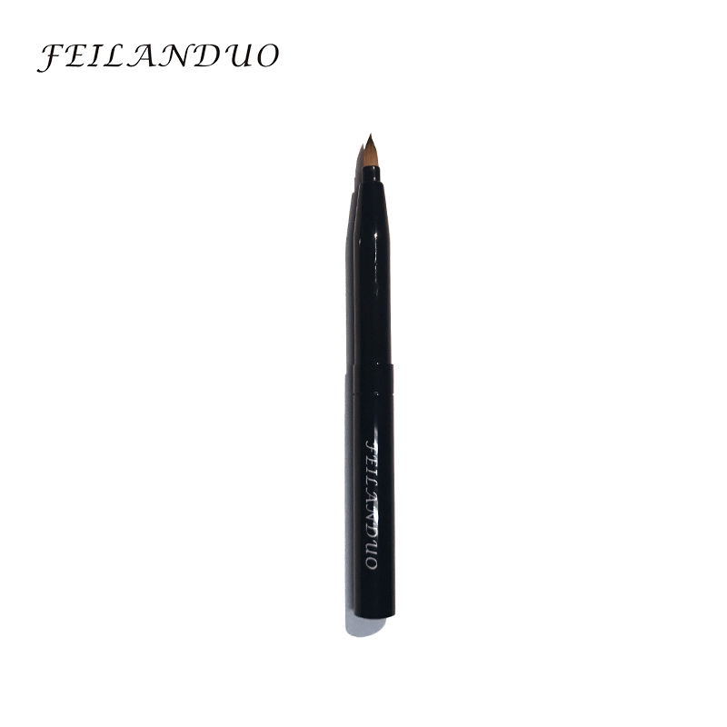 FEILANDUO Elastisk Stretch Lip Brush Protable Läppstift Makeup Brush Kosmetika Borste Mini Makeup Verktyg Make Up Borstar