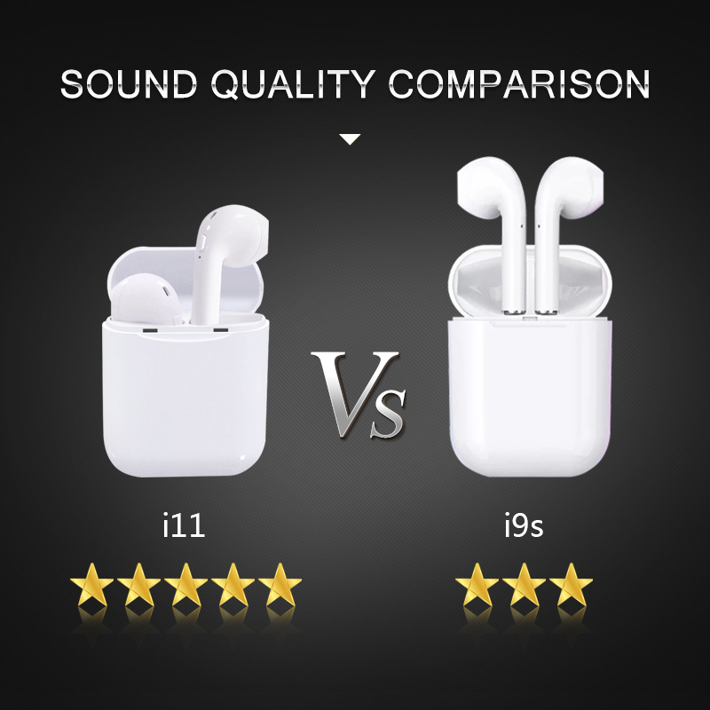 I11 TWS Wireless Stereo Earbuds Bluetooth 5 0 Headset Auto Pairing Sports  Earphone for Iphone Android Huawei Not I9s I10 I13 I60