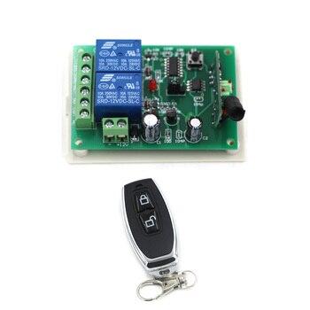 Meilleure Promotion DC12V 24 V 2CH Radio contrôleur RF sans fil relais télécommande commutateur 315 MHZ 433 MHZ émetteur + récepteur nouveau