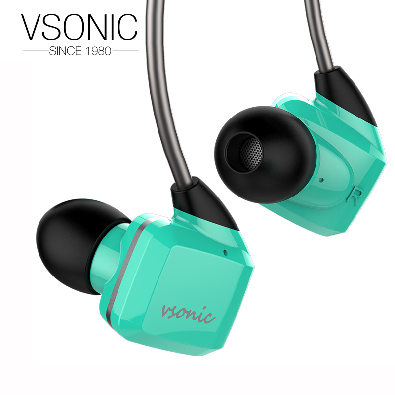VSONIC 2018 NEW GR07 Low Impedance In-Ear Earphone Dynamic Noise Isolation HIFI Earphones 32ohm new vsonic new gr07 bass classic interchangeable cable high dynamic noise isolation earphones
