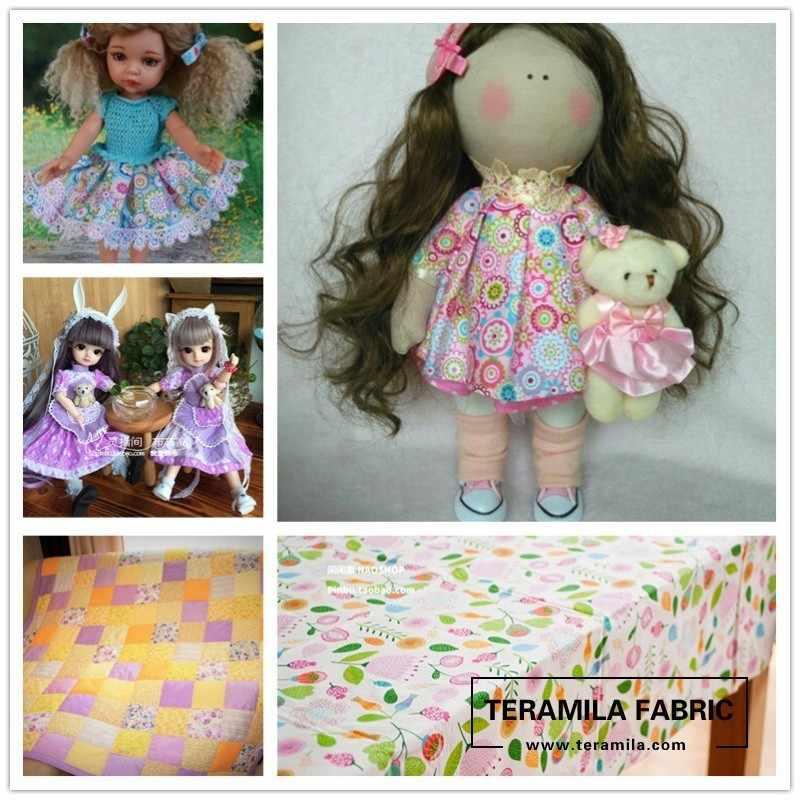 Lote de 5 unidades de 40cm x 50cm, Tela de algodón con diseño de flores, paquete precortado, costura de Teramila, Patchwork, Tela, Tela, ropa de cama, tejido de arte