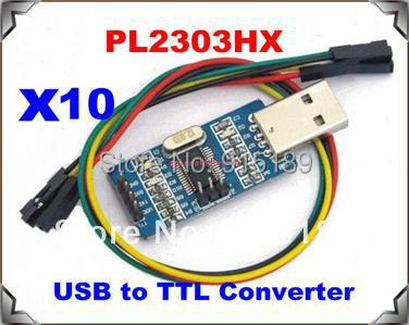 10 x USB to RS232 TTL 232 Converter Module PL2303 Chip + Cable