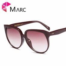 MARC New 2019 Trend Sunglasses Women Luxury Brand Designer Vintage Cat eye Rivet Shades Female Male Fashion Eyewear Oversized