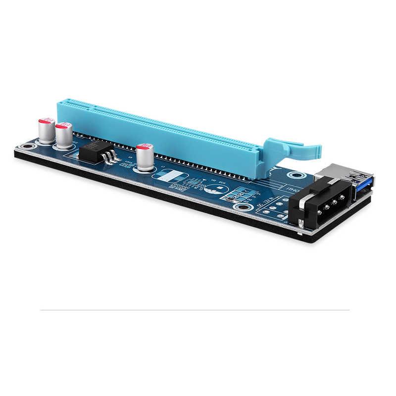 9 قطع بكيي pci-e pci اكسبريس 1x إلى 16x الناهض بطاقة usb 3.0 كابل sata إلى ide 4pin موليكس امدادات الطاقة 0.6 متر ل btc ، ltc ver 006