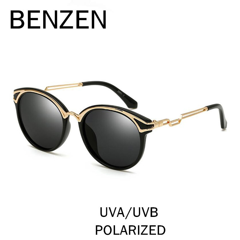 BENZEN Sunglasses Women Polarized Vintage Cat Eye Female Sun Glasses UV Ladies Driving Glasses Shade With Original Case 6391