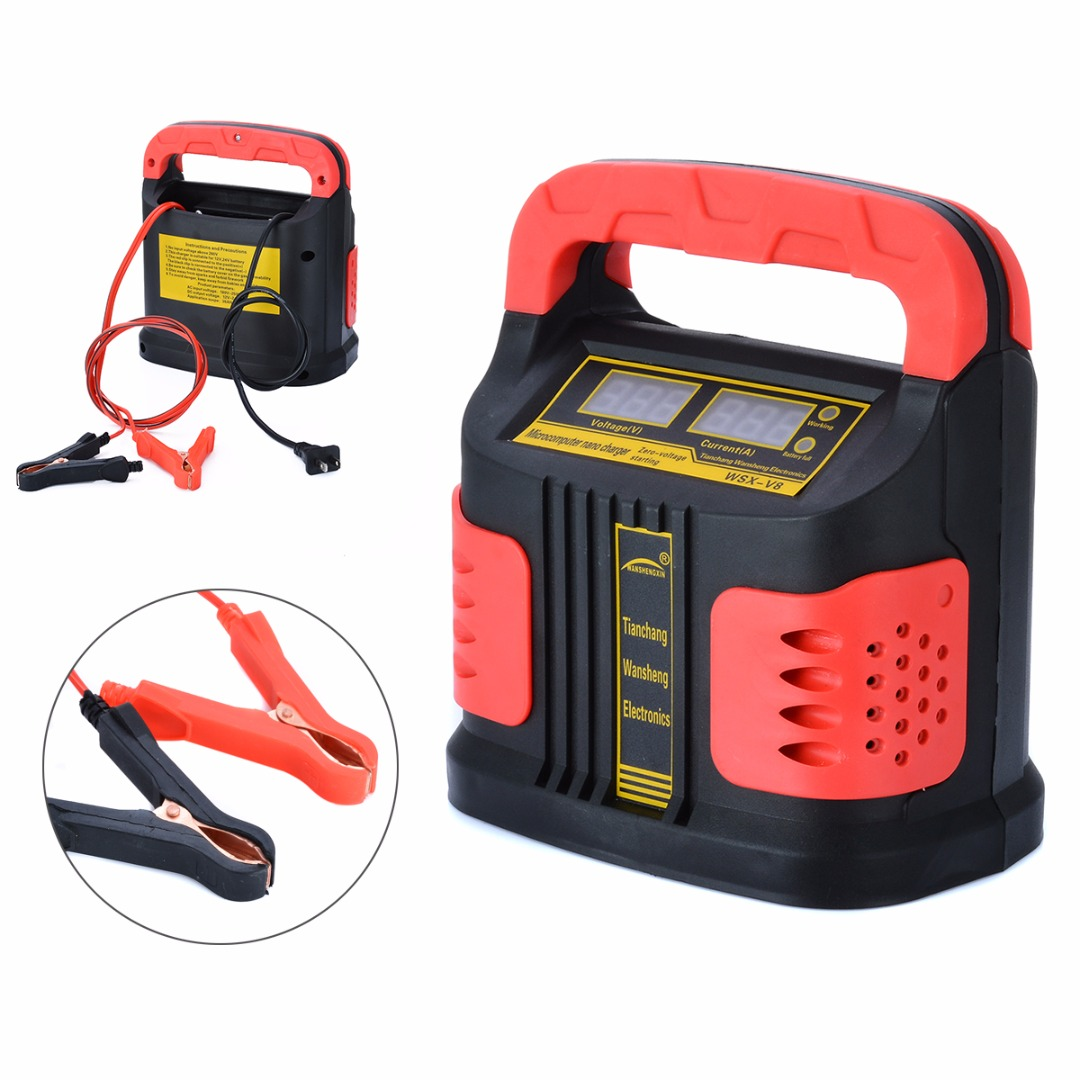 New Arrival 1pc 350W 200A 12V/24V LCD Car Plus Adjust Battery Charger Auto Motorcycle Charger Intelligent Repair Battery Booster lcd screen high frequency intelligent caricabatteria 24v 35a battery charger