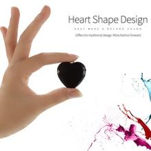 В форме сердца ключ Мини цифровой диктофон голосовой активации цепи ожерелье кулон