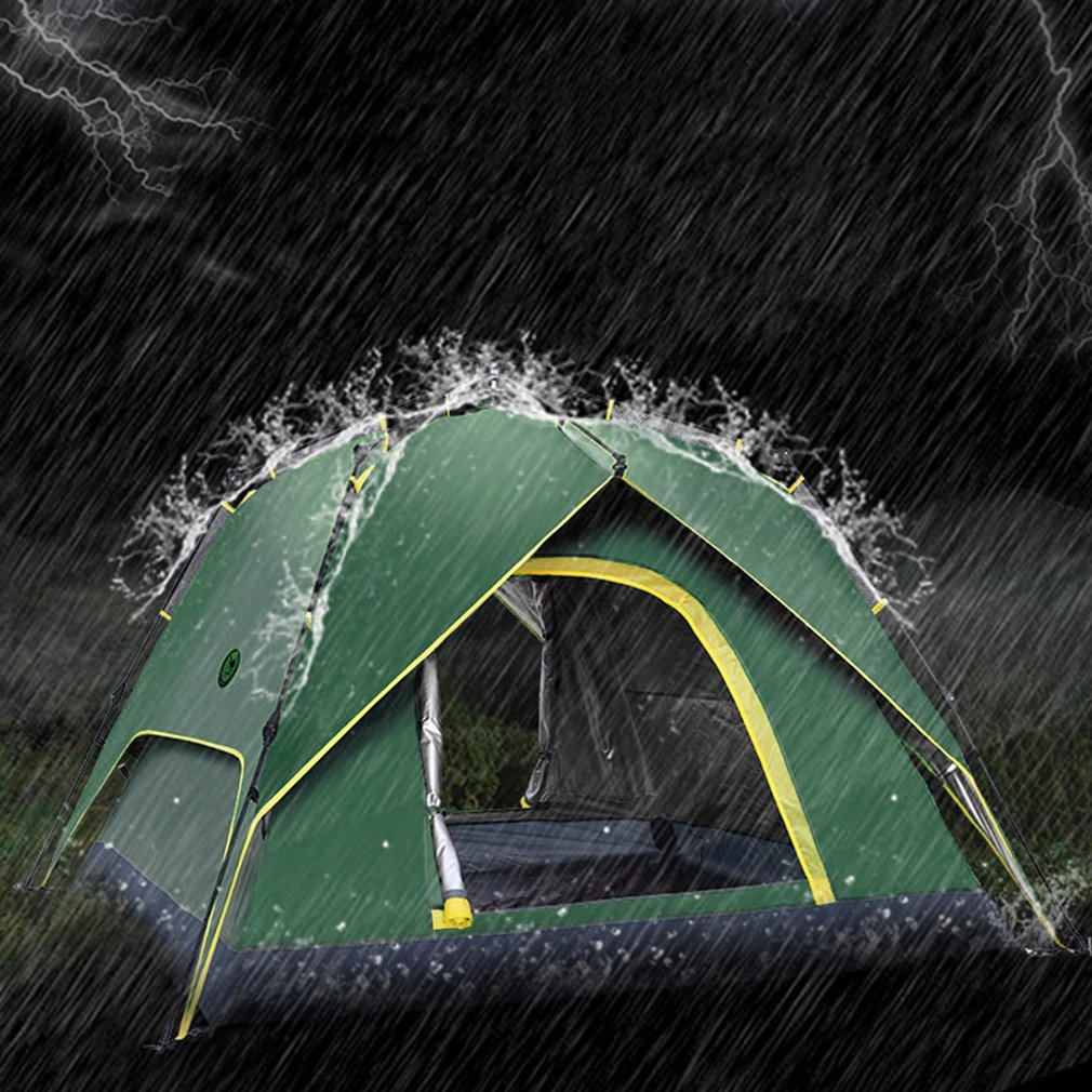 3 4 Persons Portable Fully Automatic Tent Rainproof Tent Double Layers Outdoor Camping Hiking Fishing Backpacking Tent New
