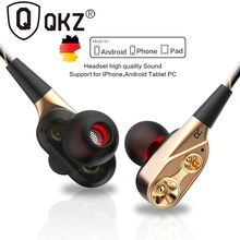 QKZ CK8 In-Ear Super Bass earphone with Microphone Hifi Headsets For Samsung iPhone Xiaomi Huawei ipd With Mic earphones