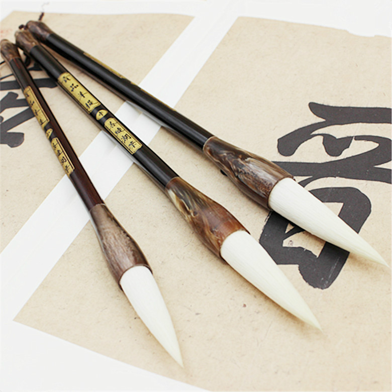 Chinese Traditional Calligraphy Pen Painting Supplies Calligraphy Brush High Quality Woolen Writing Brush Couplet Writing Brush minimal japanese calligraphy brush line brush rabbit hair writing brush pen calligraphy painting art supplies stationary