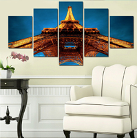 5 Pcs/set Artist Canvas Still Life Painting Pagoda And Sky Prints Wall Pictures For Living Room Picture Home Decor Gift