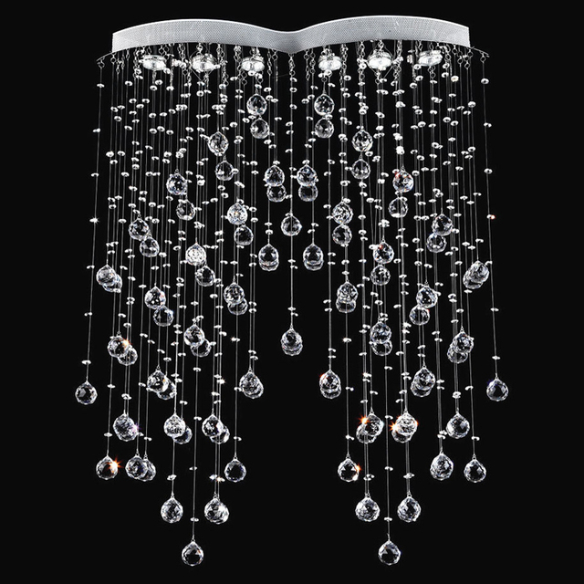 Modern Suspension Lighting Symmetry Rain Drop Crystal Chandelier - Chandelier drop crystals